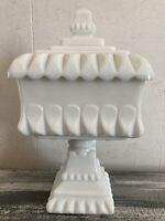 "Vintage Westmoreland Milk Glass Covered Wedding Jar/Candy Dish 10"""