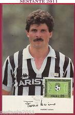 ITALIA MAXIMUM MAXI CARD LUCIANO FAVERO HURRà JUVENTUS CALCIO SERIE A 1986 B258
