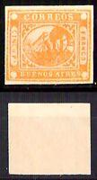 Argentina - 1858 - Buenos Aires -  5 Pesos su cartoncino non dentellato