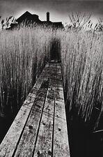 1965 Vintage 11x14 BLACK HOUSE Bridge Landscape Photo Gravure By JEANLOUP SIEFF
