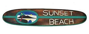 Surfbrett 100cm Sunset Beach Surfboard als Dekoration Top Deko