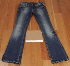 Womens Kira Plastinina Boot Stretch Jeans Sz 29 Medium Wash Flap Pockets
