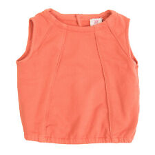 MAURO GRIFONI Sweat Top Size 6Y Garment Dye Keyhole Sleeveless Made in Italy