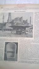 1909 86 n Konstantinopel Hagia Sophia Waschplatz Timgrad