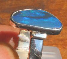 Black Opal 3.2 Karat 950er Silberring Größe 18,8 mm
