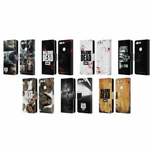 OFFICIAL AMC THE WALKING DEAD LOGO LEATHER BOOK WALLET CASE FOR GOOGLE PHONES
