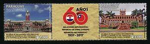 Paraguay 2017 Taiwan Diplomatische Beziehungen Diplomatic Relations MNH
