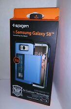 Spigen Slim Armor CS Wallet Card Carry Case For Samsung Galaxy S8 Blue Coral