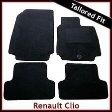 Renault Clio Mk3 2005-2009 Pre-Facelift a Medida Alfombra Alfombrillas De Coche Negro Equipada