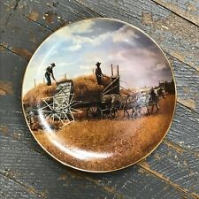Danbury Mint Farming the Heartland Collector Plate Harvesting Last Emmett Kaye