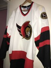 CCM Vintage Stitched Ottawa Senators NHL Hockey Jersey White XL Pro Team Edition