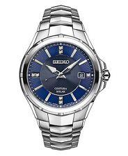 NEW Seiko SNE443 Solar Men's Diamond Watch Stainless Steel Coutura New In Box