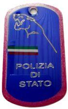 COLLANA PIASTRINA DISTINTIVO POLIZIA DI STATO CON TRICOLORE