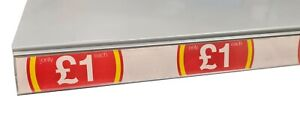 "10 x Shelf Edge/Ticket Rail Inserts ""Only £1 each"" 1000mm long"