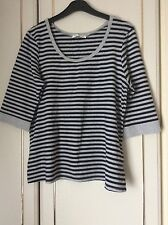 ladies grey blue striped top , size 20 from George