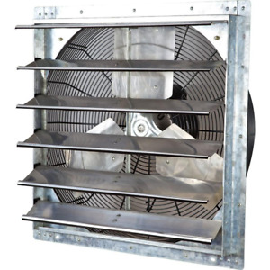 4244 CFM Electric Powered Gable Mount Shutter Fan Vent Variable Speed Silver