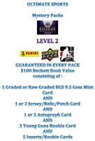 LEVEL 2 ULTIMATE HOCKEY MYSTERY PACKS 1st EDITION  Guaranteed AUTO PATCH JERSEY