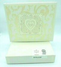 Hallmark Wedding Guest Signature Book Ivory Lace Heart Scroll Binder 864 Entries