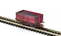 Gaugemaster GM2410108 N Gauge 7 Plank Wagon Sussex Brick Co Weathered