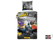 LEGO BATMAN MOVIE Copripiumino Letto Singolo + Federa 100% Cotone