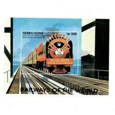 VINTAGE CLASSICS - Sierra Leone 1853O - Trains - Souvenir Sheet - MNH