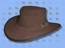 OUTBACK Australian Suede LEATHER HAT by CUTANA HATS