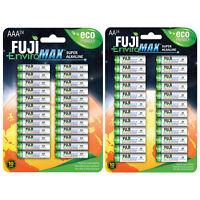 48 set (24 AA + 24 AAA) Fuji EnviroMAX Super Alkaline Eco Friendly Batteries
