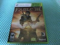 Fable III XBox360 Microsoft NEW SEALED Not For Resale Fast Free Shipping