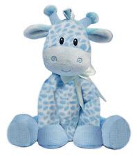 BLUE GIRAFFE 21cm Baby Boy Plush Rattle Non Allergic Soft Toy First & Main NEW