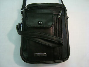 Leather Shoulder/Wrist Bag Ideal for Travel Passport and Documents UniSex
