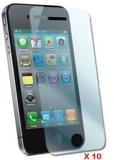 10pcs Clear Front Screen Cover Shield Protector Anti-Scratch for iPhone 4 4G 4S