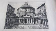 Pericle Menin - Acquaforte/ incisione originale - Milano S.Carlo 1943