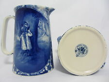 "ROYAL STONE FLOW BLUE 4.5"" JUG IN THE DESIGN OF HIDE AND SEEK"