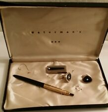 Waterman's Gift Set Cuff Links,Money Clip,Pen Vintage