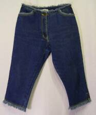 Raggedy MID RISE Frayed Yellow Stitching COMMITTED Denim CAPRI Jeans! 5/6