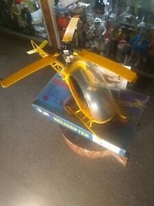 VINTAGE 1973 HASBRO GI JOE ADVENTURE TEAM YELLOW HELICOPTER WITH BOX EXCELLENT