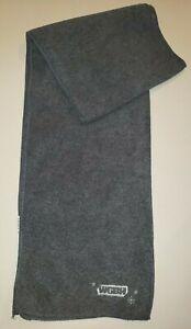 mens women DARK GRAY FLEECE SCARF WGBH snowflakes 58 inch winter wear @@