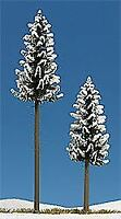 BUSCH HO SCALE 1/87 SNOW COVERED HIGH SPRUCE (2) | BN | 6153