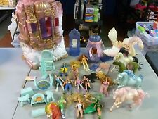 She-Ra Princess of Power Lot with Crystal Castle 11 Figures, 4 Horses