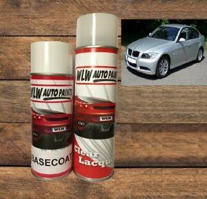 BMW TITAN SILVER 354 2K SOLVENT BASECOAT MIXED AEROSOL SPRAY PAINT