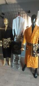New Soft Bathrobe with Versace Symbol 100% Cotton,Yellow,Red,Black,Navy blue