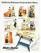 PUBLICITE ADVERTISING 027  1982  Black & Decker  établi-étau Workmate
