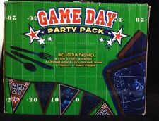 Football Game Day Party Pack Cups Plates Napkins Utensils Tablecloth Streamer
