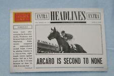 EDDIE ARCARO 2012 GOLDEN AGE HEADLINES #11 ABOARD CITATION