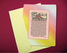 """You Made A Difference"" Inspirational Story -  Keepsake Enclosed Card -Sku# 834"
