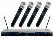 VocoPro VHF Wireless Microphone System Four Channel Rechargeable - VHF-4005-1