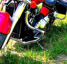 STAINLESS STEEL CUSTOM CRASH BAR ENGINE GUARD+FOOT PEGS KAWASAKI VN 2000 VULCAN