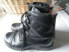 ARIAT  Black Leather Lace up Equestrian Riding Boots Women's Size 8.5