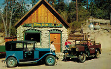 Idyllwild,California,Town Crier Office,2 Early Press Cars,Riverside County,1950s