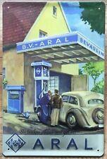 ARAL BENZIN TANKSTELLE BLECHSCHILD 20 x 30 mit PRÄGUNG